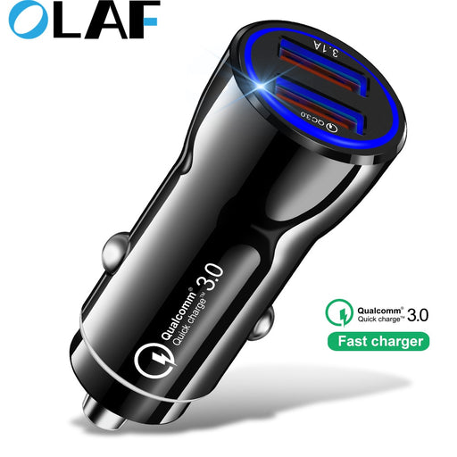 Quick Charge 3.0 Car Charger Mobile Phone Dual Usb Car Charger Qualcomm Qc 3.0 Fast Charging Adapter USB Car Charger