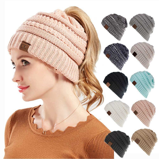 Winter Wool Hat, for Open Ponytail, Good High Quality