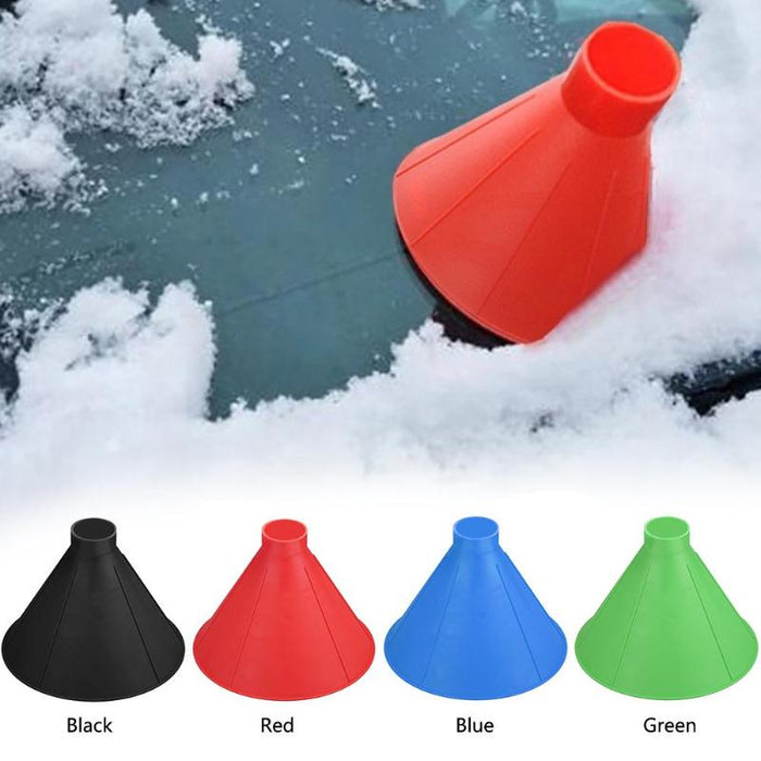 Conical Magic Ice Scraper for your windscreen with funnel function