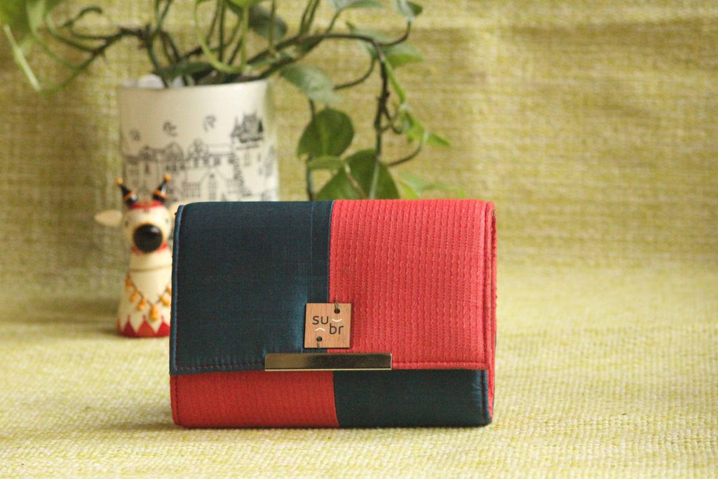 Royal Twilight  Colour Block Clutch