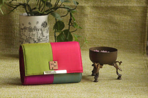 Social Butterfly  Colour Block Clutch