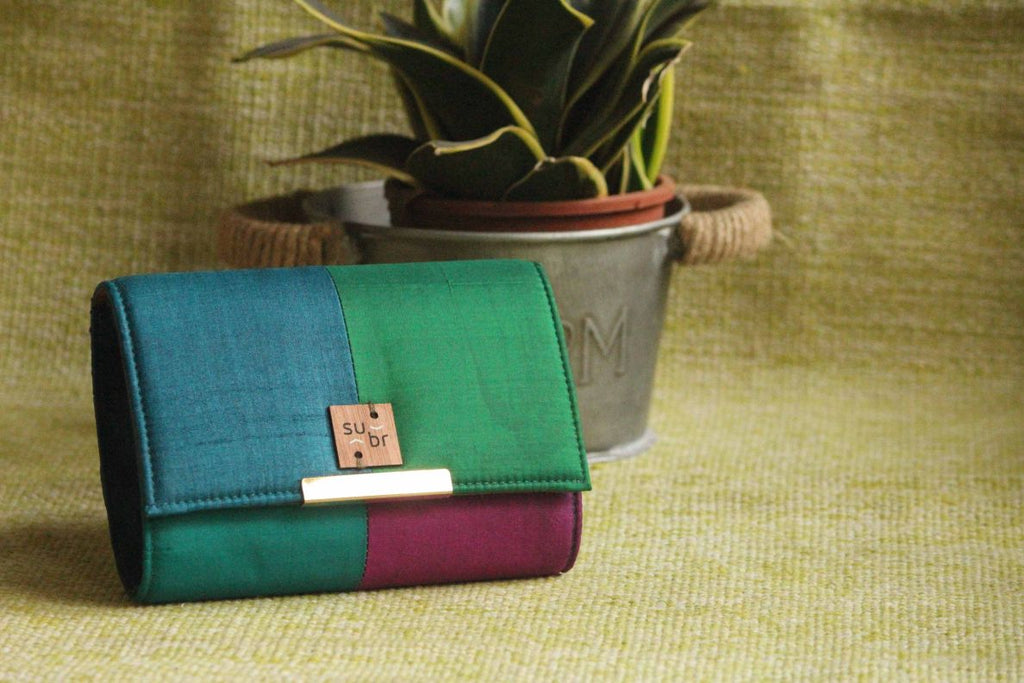 Midnight light  Colour Block Clutch