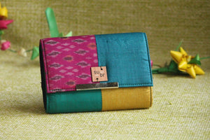 Bold Jewel Colour Block Clutch