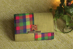 Paddy Field Greens Colour Block Clutch