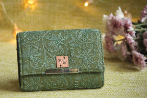 Forest Folk Colour Block Clutch