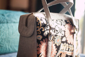Whimsical floral Chittoor Road Bag