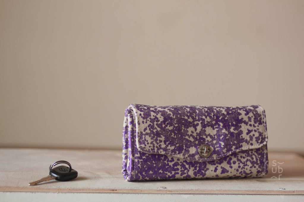 Purple Splash Excel Wallet