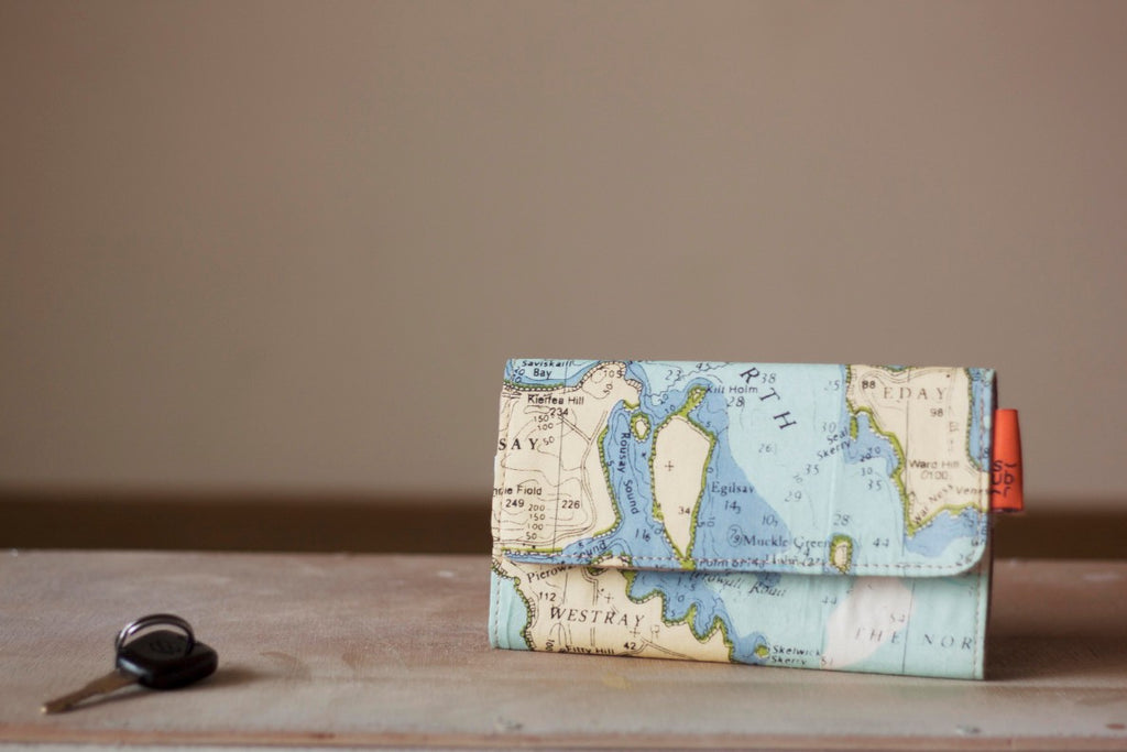Vintage Map Phone Wallet