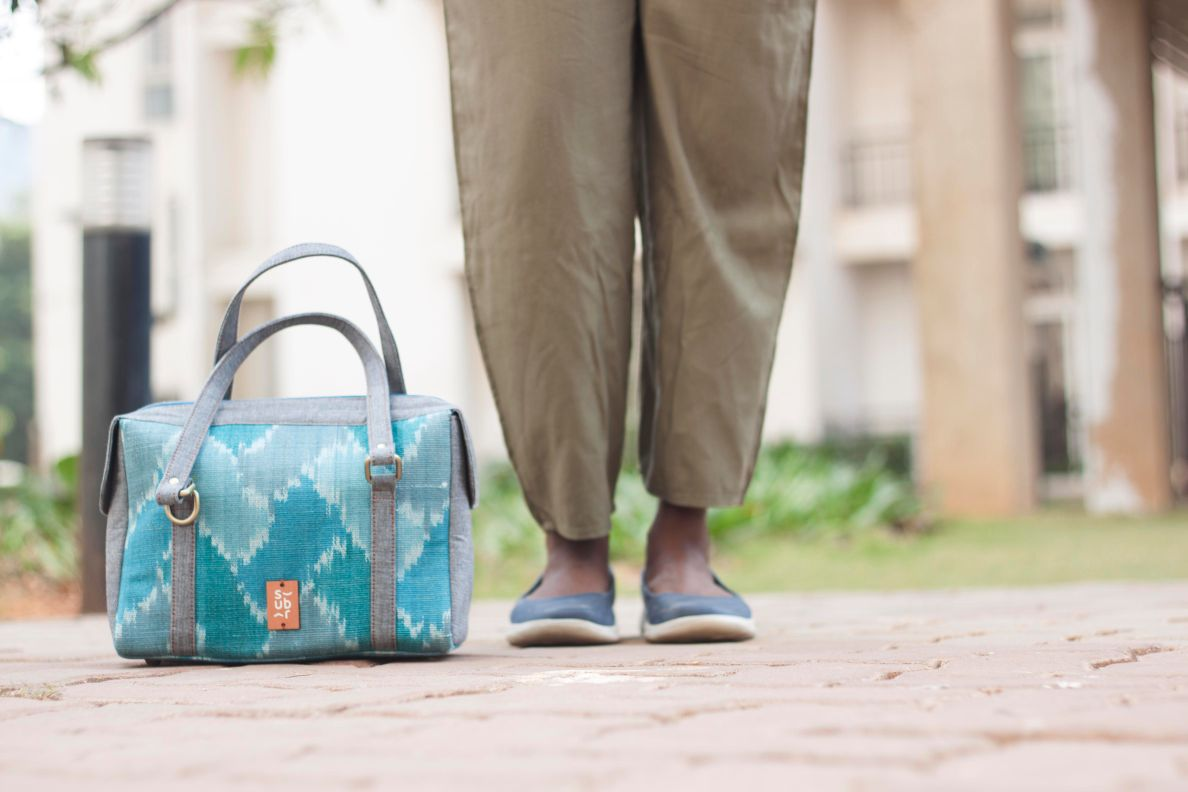 Aqua Ikat Chittoor Road Bag