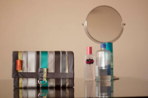 Grey & Teal Roll-On Organizer