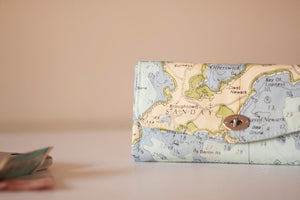 Vintage Map Print Excel Wallet