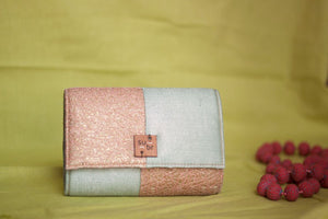Pastel daydreams Colour Block Clutch