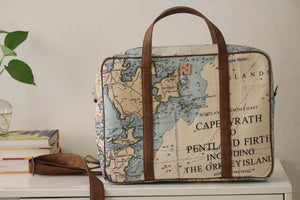 Vintage Map Amherst Bag
