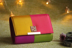 Tropical Punch Colour Block Clutch