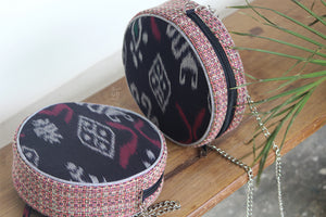 Black & Wine red Ring Road Bindu Bag