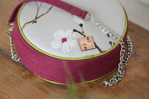 Cherry Blossoms on Wine Ring Road Bindu Bag