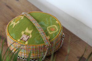 Green & orange Bali Ikat Ring Road Bindu Bag