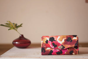 Water colour printed floral Excel Wallet