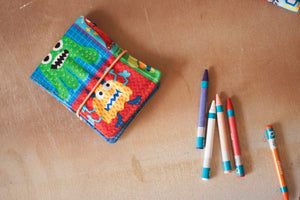 Blue Green Monster Rule Crayon Kit