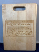 Load image into Gallery viewer, Custom Engraved Recipe cutting boards and restoration services.