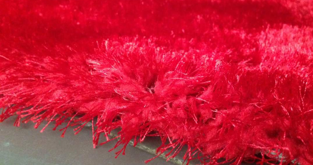 Red Soft Fluffy Carpet