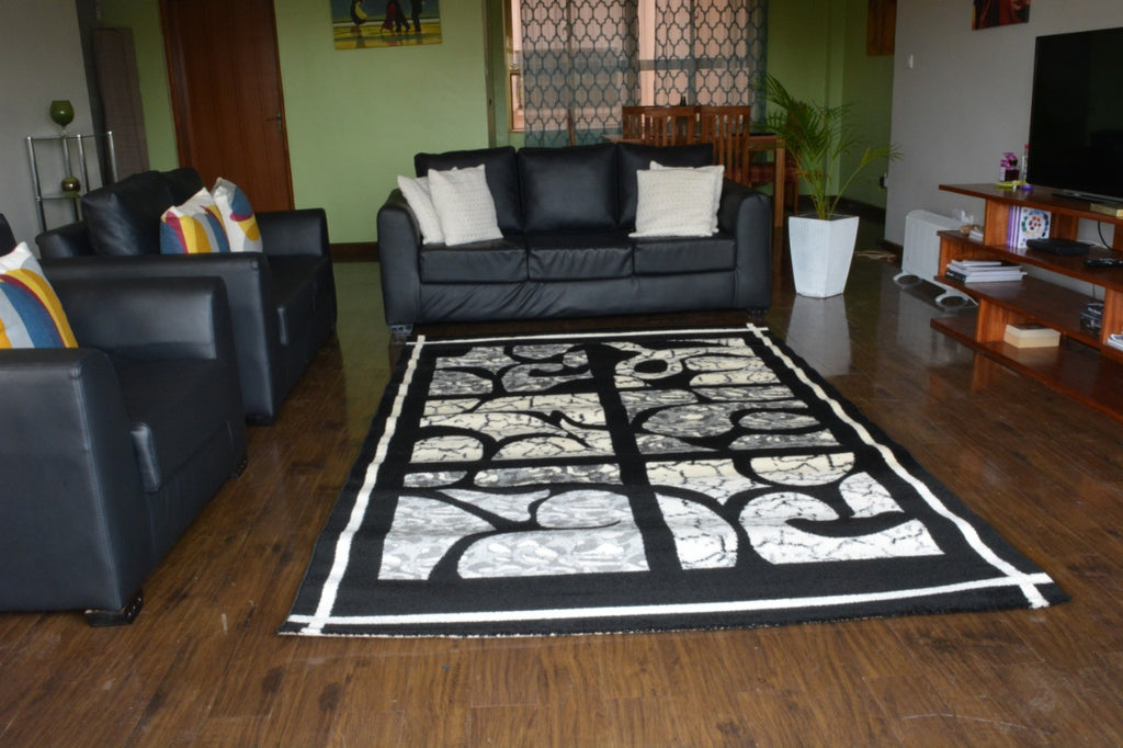 Black White Modern Carpet