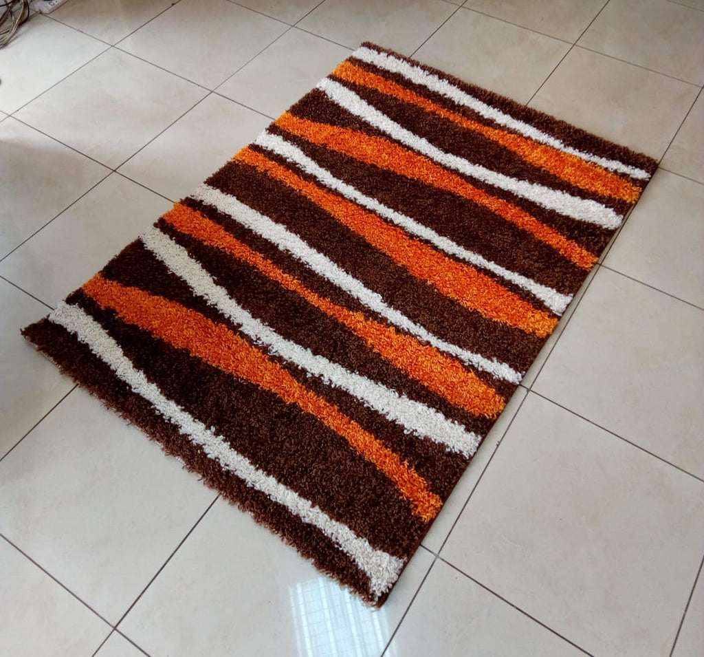 Orange Brown Shaggy Carpet