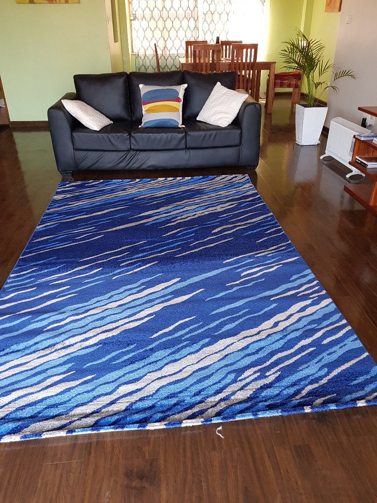 Navy Blue Modern Carpet