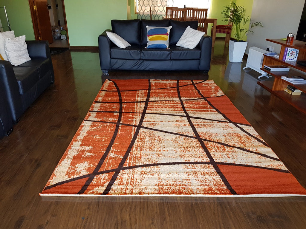 Orange Terra Modern Carpet