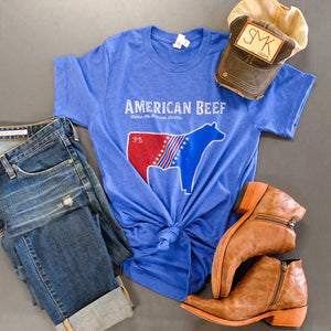 American Beef T-shirt - Blue