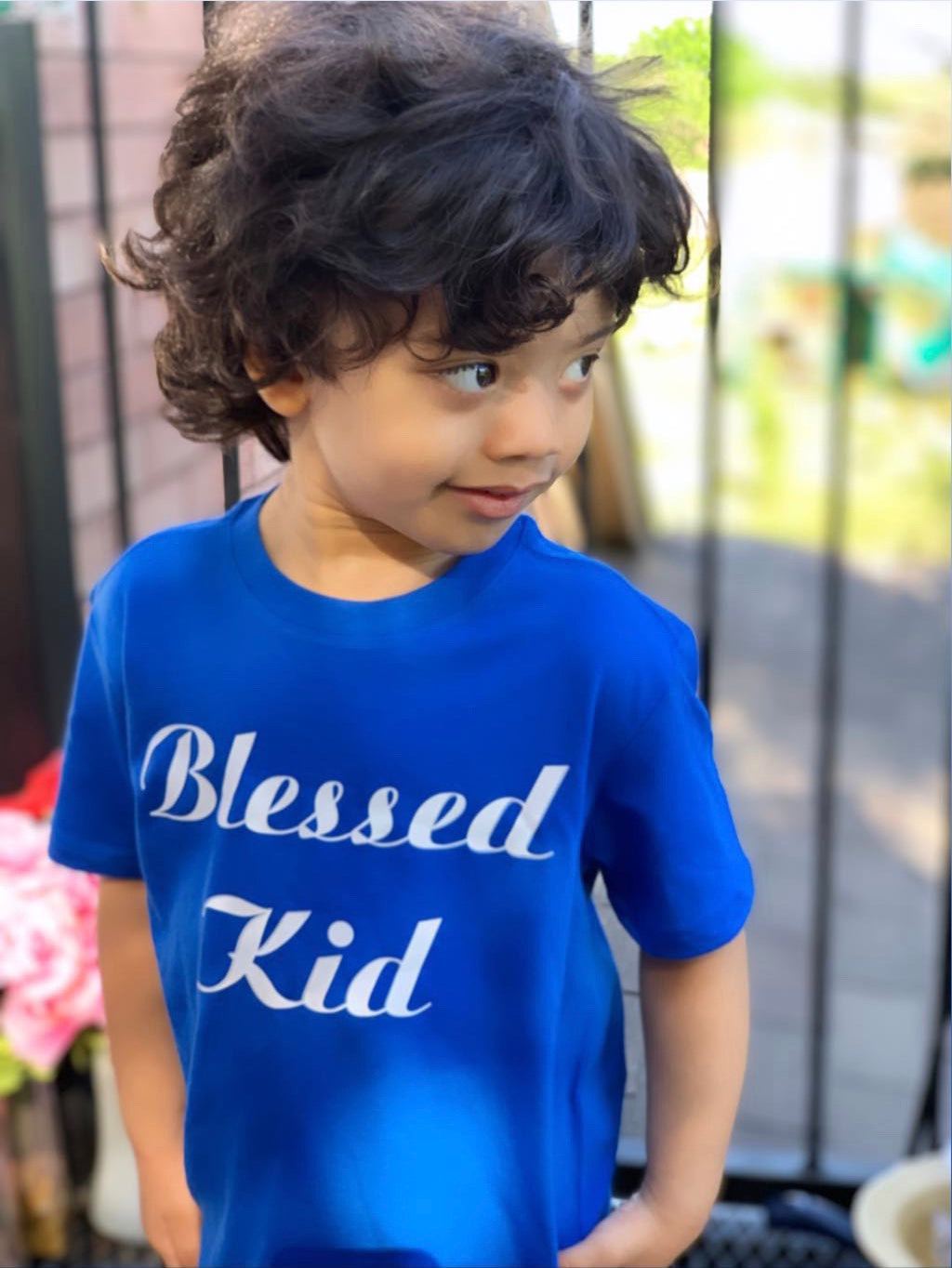 "BLESSED KID  T-shirt ""Blue"""
