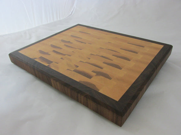 Large end grain cutting board. great gift idea. thick handmade maple and walnut cutting board. kitchen ideas. home decorating