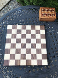 Regulation Size 18 Inch Chess Board Made Of Maple And Walnut - Great Gift For Birthdays And Holidays - FREE DOMESTIC SHIPPING