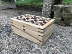 Wood Box - Made From Maple And Ash Wood - Handmade Artisan Box With Lid - Wood Box For Storage - Fireplace Mantel Centerpiece - Tea Box