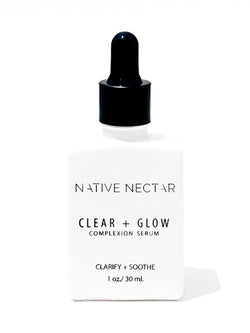 Clear + Glow Complexion Serum - Native Nectar Botanicals