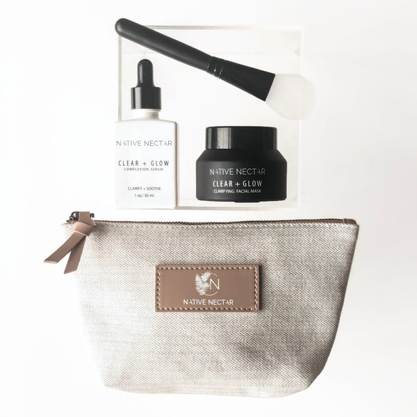 Clear + Glow Serum & Mask Set - Native Nectar Botanicals