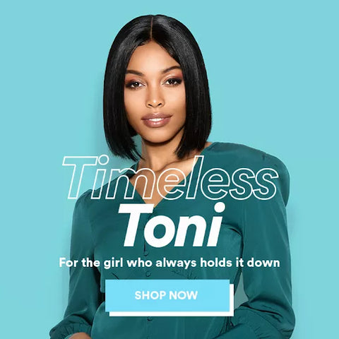Timeless Toni - Straight Center Part Short Bob Wig