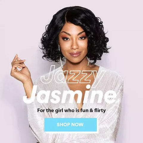 Jazzy Jasmine - Loose Wave Side Part Bob Wig