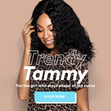 Trendy Tammi - Deep Wave Center Part Wig