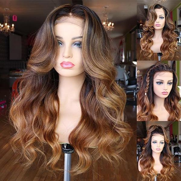 Brown Long Wave | Japanese Fiber Lace Front Wig (Base Cap)