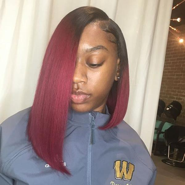 "14"" Bob Wigs Short Straight Synthetic Hair Full Wigs Natural Looking"