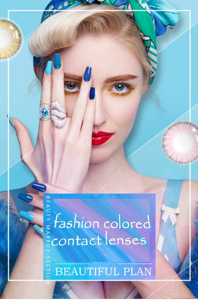 High Quality Materials Multicolor Cute Charm and Attractive Contact Lenses(Imported quality goods)60% OFF TODAY !!