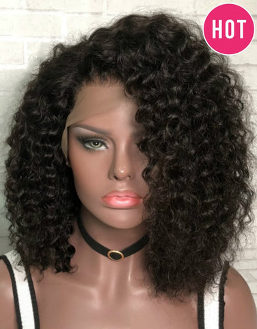 Curly Wigs  Lace front wig synthetic wig-Bod021