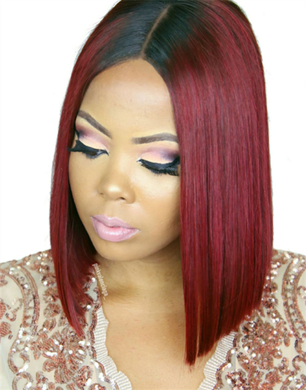 Straight Wigs Lace front wig synthetic wig-Bod014