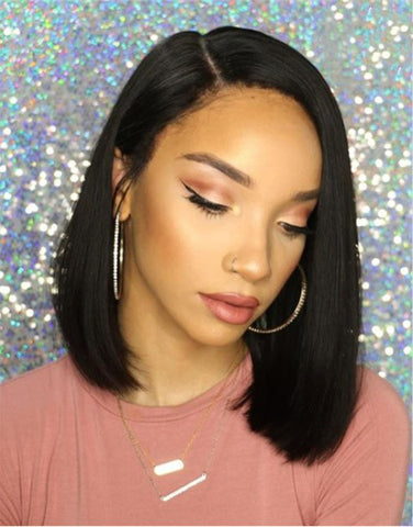 Beveled Bob Head  Lace front wig synthetic wig-Bod011