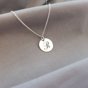 Engraved Disk Necklace