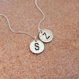 Double Engraved Disk Necklace
