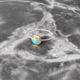 Turquoise Eye Ring Set