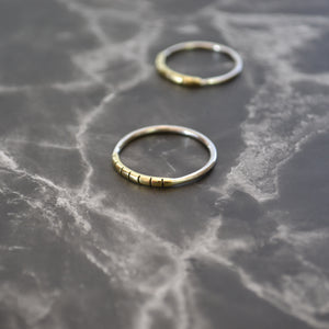 Stripe Stack Ring