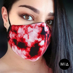 Red Tie Dye Mask
